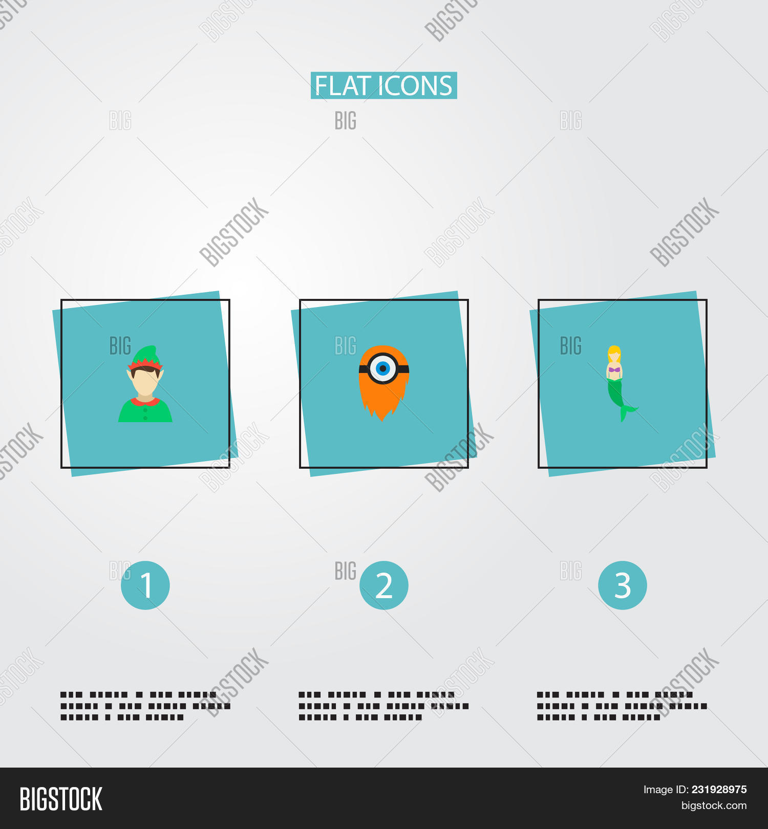Set Character Icons Image Photo Free Trial Bigstock