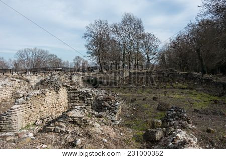 Ruins Of Public Baths In Archaeological Park Of Dion. Pieria, Macedonia, Greece