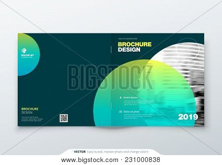 Square Brochure Design. Magenta Corporate Business Rectangle Template Brochure, Report, Catalog, Mag