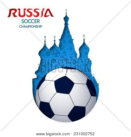 Russia Soccer Event Cathedral Landmark Cutout