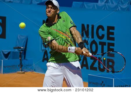 Nice, France - Aug 17: Andreas Haider-maurer (aut) At The Nice Cote D'azur Open On May 17, 2011
