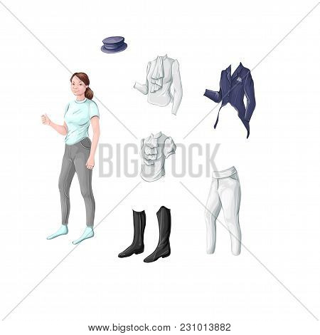 Equestrian Ammunition Rider For Dressage, Jumping - Jacket, Turtleneck, Blouse, Tailcoat, Cylinder,