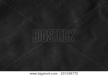Black Synthetic Fabric Cloth Texture Detail Background