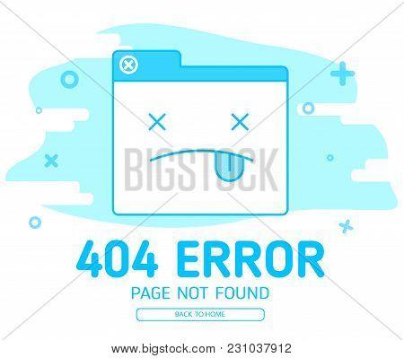 404 Error With Icon Tab Wedsite Error Background
