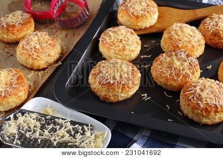 Freshly Baked Delicious Hot English Scones