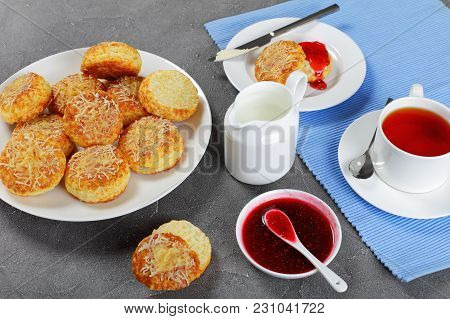 English Breakfast With Tea And Scones