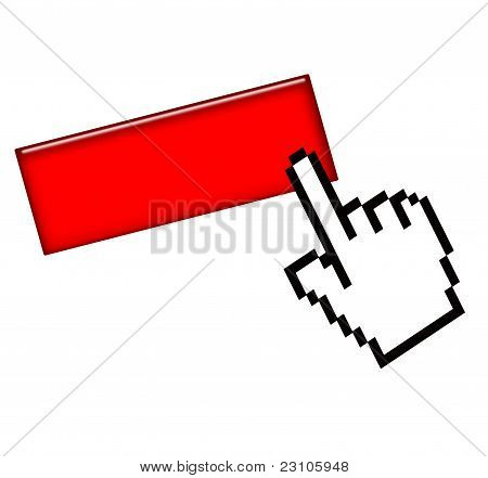 Blank button and hand cursor