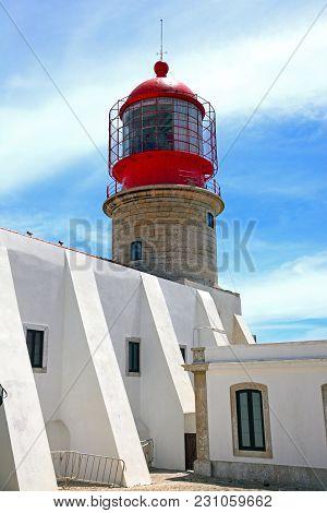 View Of The Lighthouse (cabo De Sao Vicente), Cape St Vincent, Algarve, Portugal, Europe.