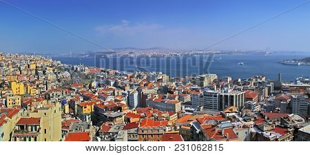 Istanbul, Turkey - March 23, 2012: View From The Tower Of Galata.