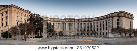 Montgomery, Alabama, Usa - January 15, 2018: Frank M. Johnson Jr. Federal Building And United States