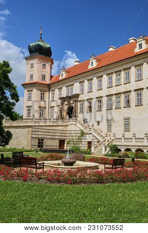 Baroque Castle In Mnisek Pod Brdy Town Near Prague