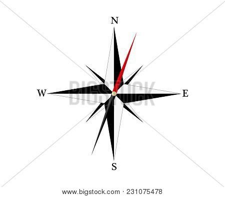 Pictograph Of Compass. West, East, North,south. Vector