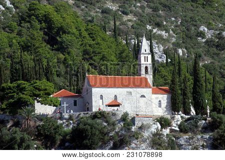 OREBIC, CROATIA - SEPTEMBER 02: Church of Our Lady of the Angels in Orebic, Croatia, on September 02, 2016.