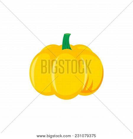 Cute Cartoon Pumpkin, Halloween, Thanksgiving Symbol, Decoration Element, Cartoon Vector Illustratio