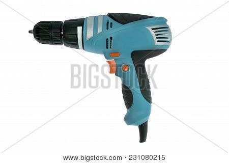 Drill Power Drill Isolated On White Background