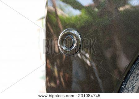 Close-up Of Parking Sensor On Car Bumper