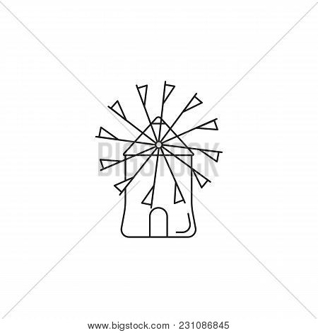 Windmill Icon. Outline Illustration Of Windmill Vector Icon For Web And Advertising