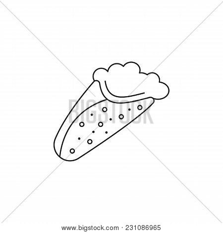 Greek Pita Icon. Outline Illustration Of Gyros Pita Vector Icon For Web And Advertising