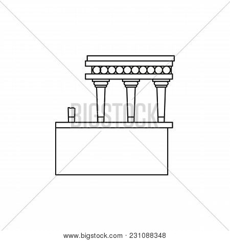 Knossos Palace Icon. Outline Illustration Of Knossos Palace Vector Icon For Web And Advertising