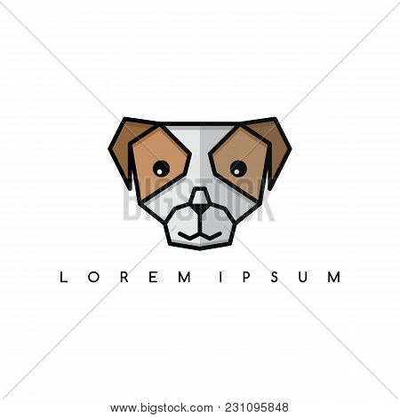 Cute Dog Puppy Animal Head Logo Theme Vector