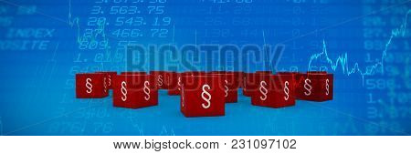 Vector icon of section symbol against stocks and shares