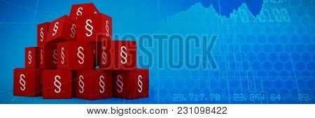 Vector icon of section symbol against stocks and shares Vector icon of section symbol on blocks
