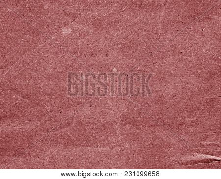 Old Red Cardboard Surface. Abstract Background And Texture For Design And Ideas.