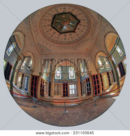 Istanbul, Turkey - March 24, 2012: Topkapi Palace, Interior Of Library.