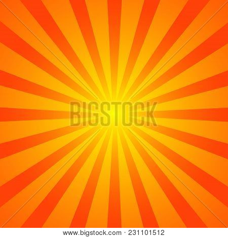 Background With Retro Rays. Vintage Backdrop, Boom, Comic, Circus Pattern. Cartoon Pop Art Template