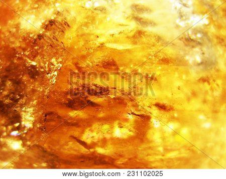 Citrine Natural Quartz Blue Gem Geological Crystals Texture Background