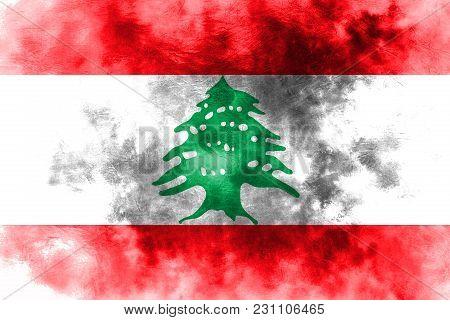 Old Lebanon Grunge Background Flag, Lebanon Flag