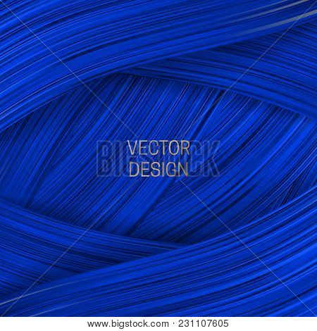 Volumetric Frame On Saturated Blue Background. Trendy Packaging Design Or Cover Template.