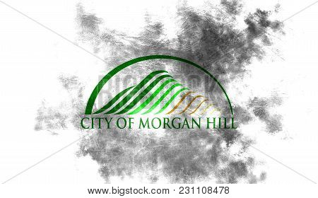 Morgan Hill City Smoke Flag, California State, United States Of America