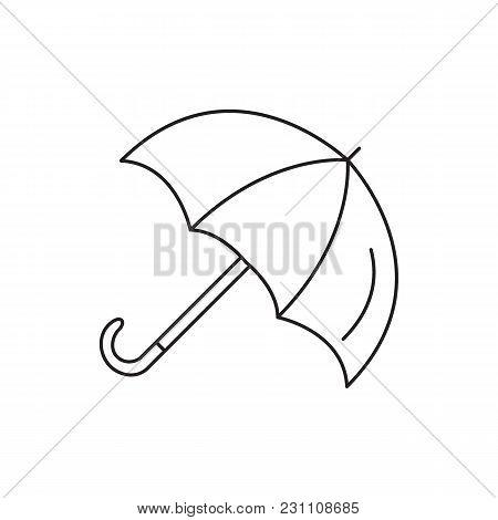 Umbrella Icon. Outline Umbrella Vector Icon For Web Design Isolated On White Background