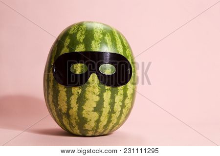 Superwatermelon Wearing A Black Mask
