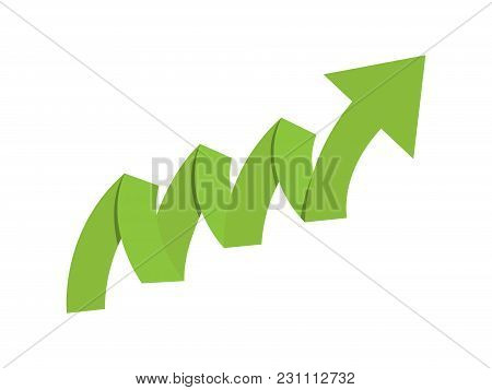 Origami Paper Green Growth Finance Business Arrow