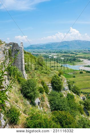 Scenic Views From The Walls Of The Medieval Fortress Of Rozafa.