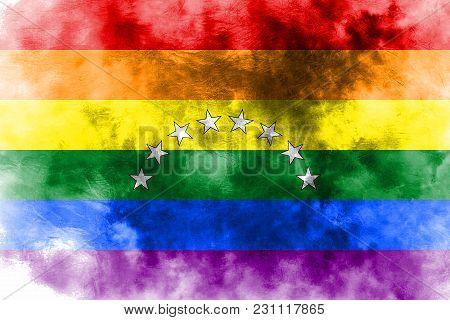 Venezuela Gay Grunge Flag, Lgbt Venezuela Flag