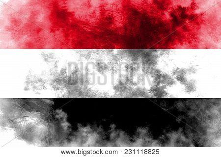 Old Yemen Grunge Background Flag, Yemen Flag