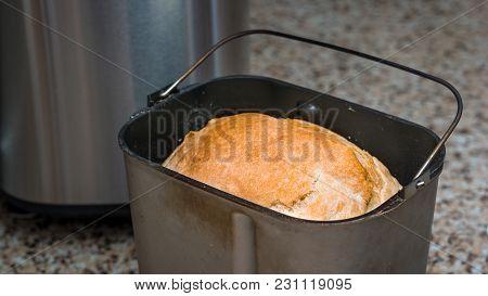 Homemade Bread Baked In A Breadmaker