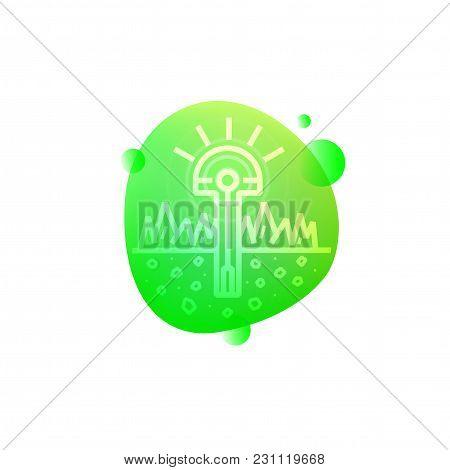 Vector Illustration Of Hi-tech Smart Garden Light Icon Isolated On White Background.