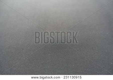 Macro Of Simple Unprinted Dark Grey Fabric