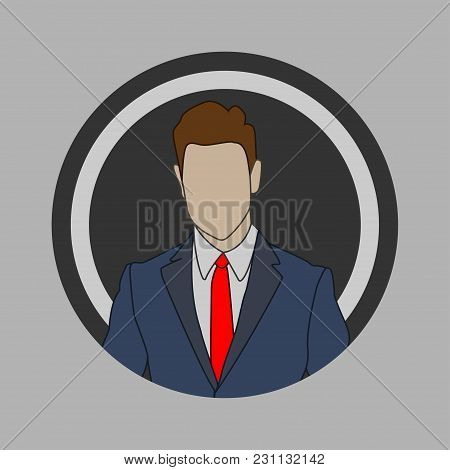 Illustration Of A Businessman In A Flat Style