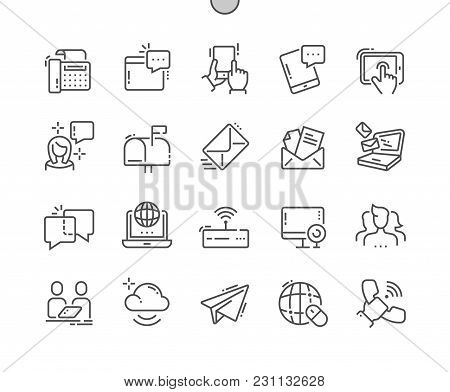 Communication Well-crafted Pixel Perfect Vector Thin Line Icons 30 2x Grid For Web Graphics And Apps