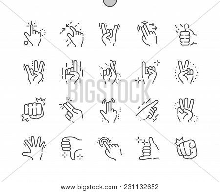 Gesture Well-crafted Pixel Perfect Vector Thin Line Icons 30 2x Grid For Web Graphics And Apps. Simp