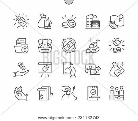 Finance Well-crafted Pixel Perfect Vector Thin Line Icons 30 2x Grid For Web Graphics And Apps. Simp