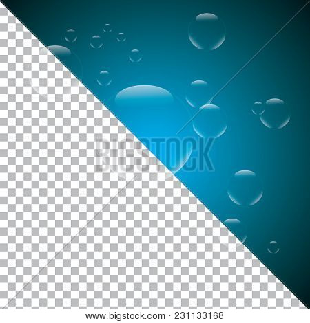Balloon Transparent Bubbles Isolated For Design Blended Vector Background