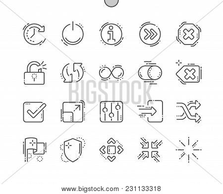 Controls Well-crafted Pixel Perfect Vector Thin Line Icons 30 2x Grid For Web Graphics And Apps. Sim