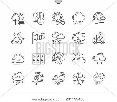 Weather Well-crafted Pixel Perfect Vector Thin Line Icons 30 2x Grid For Web Graphics And Apps. Simp