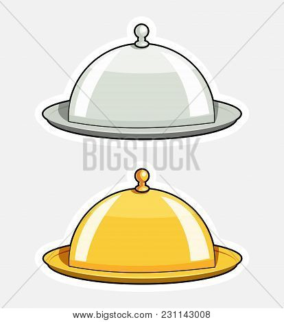 Tray With Lid. Kitchen Tableware. Isolated White Background. Eps10 Vector Illustration.